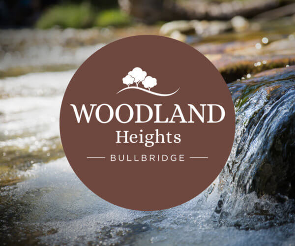 Bulbridge height logo over stream